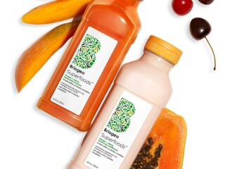 Briogeo Superfoods Mango + Cherry Balancing Shampoo and Conditioner