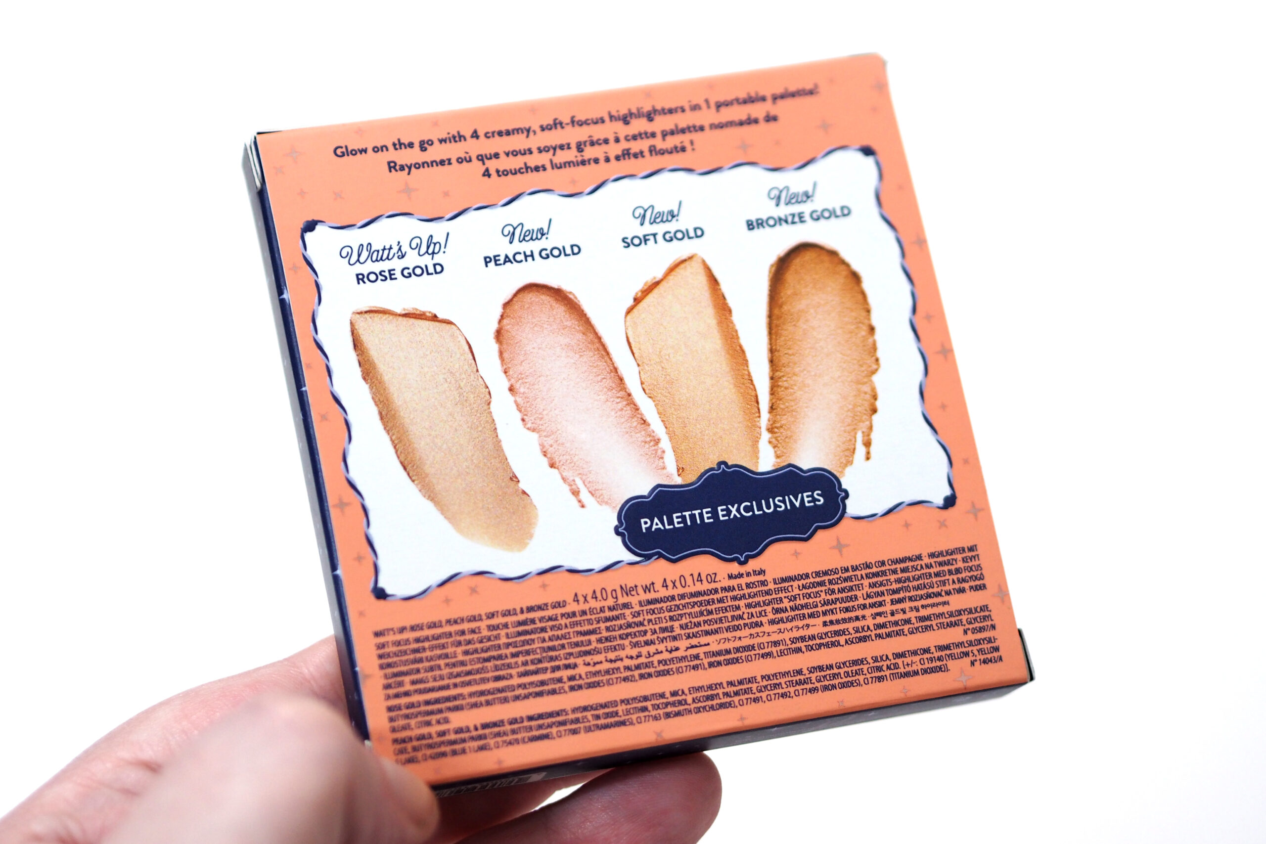 Benefit Miss Glow It All Highlighter Palette Review / Swatches