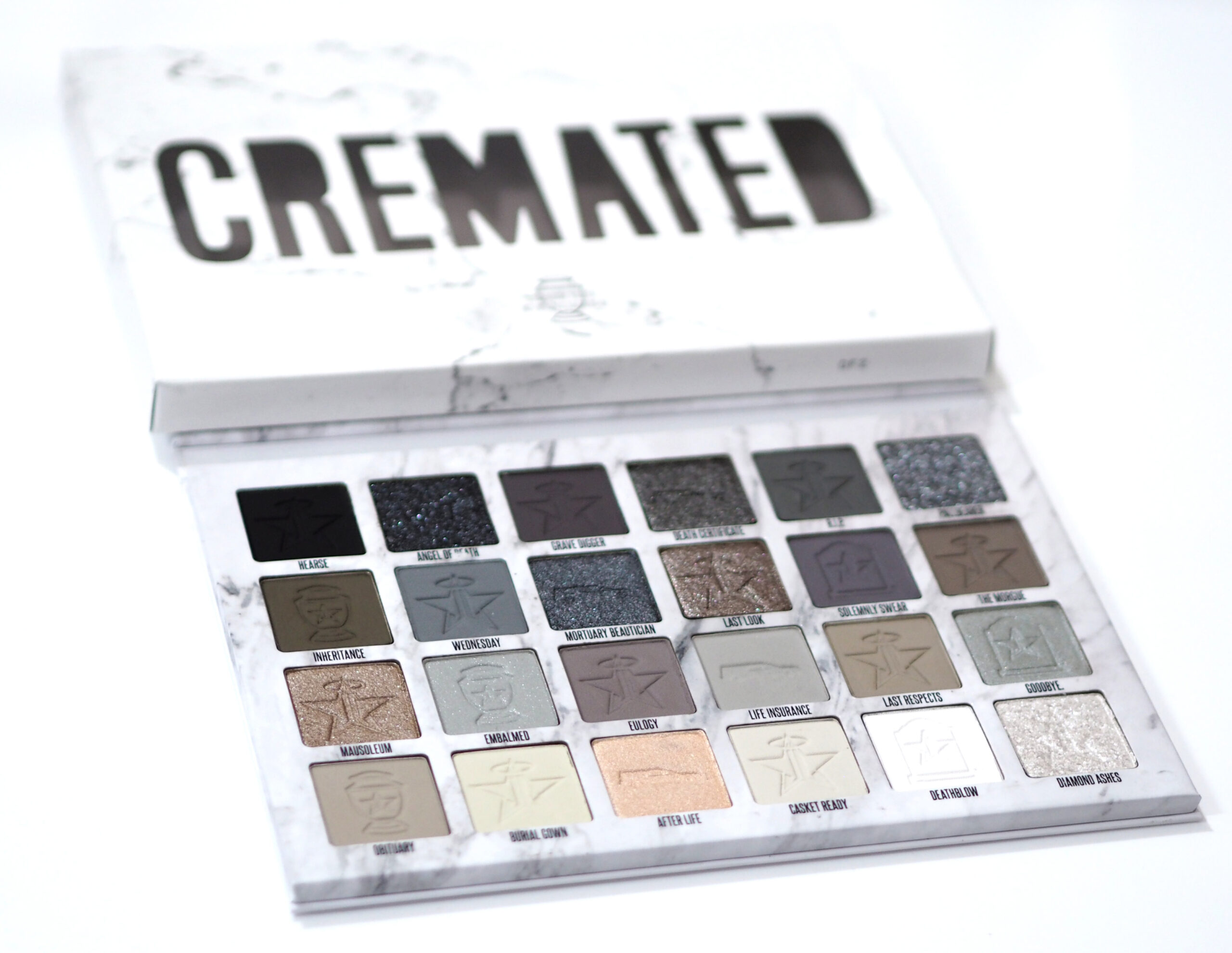 Jeffree Star Cosmetics Cremated Eyeshadow Palette Review Swatches