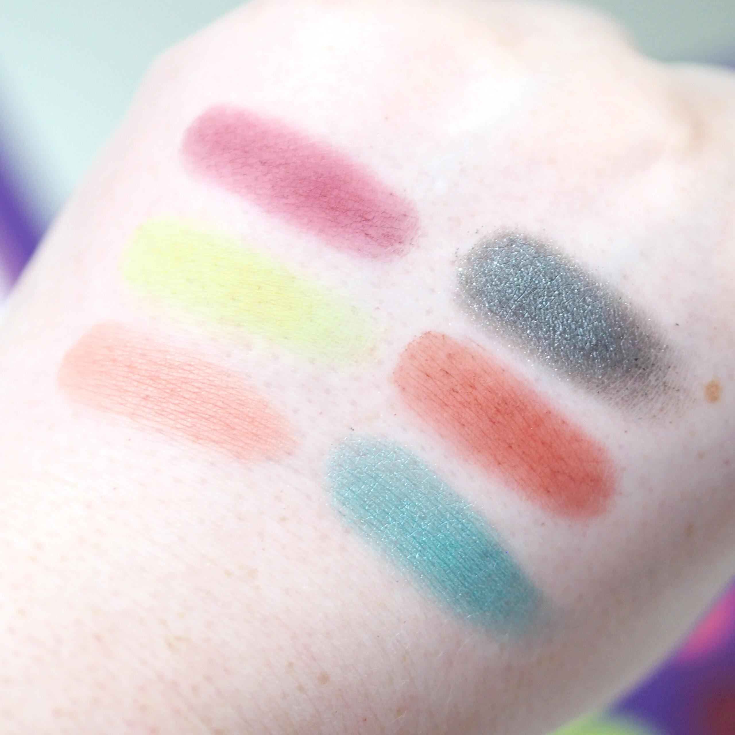 Makeup Revolution x Bratz Eyeshadow Palette Swatches