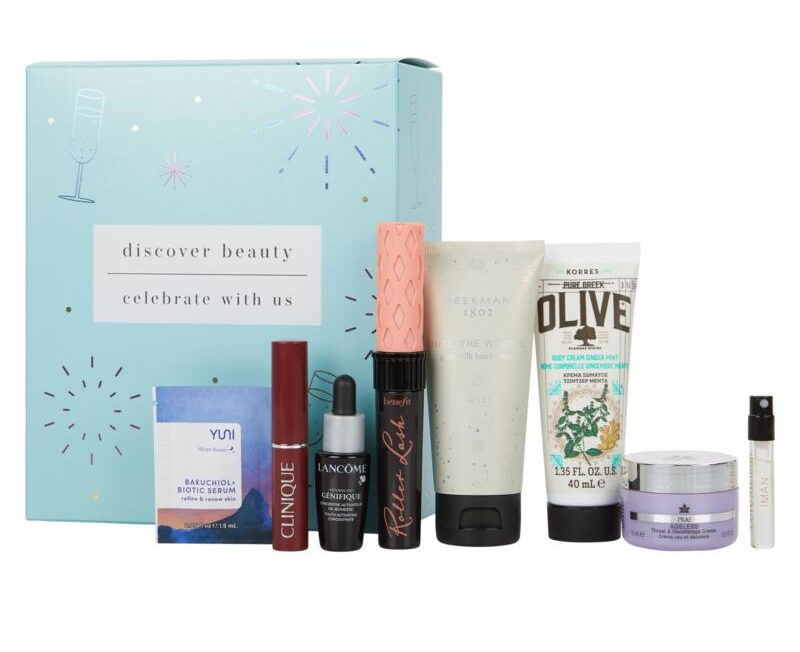 HSN Discover Beauty x Celebrate with Us Sample Box July 2021