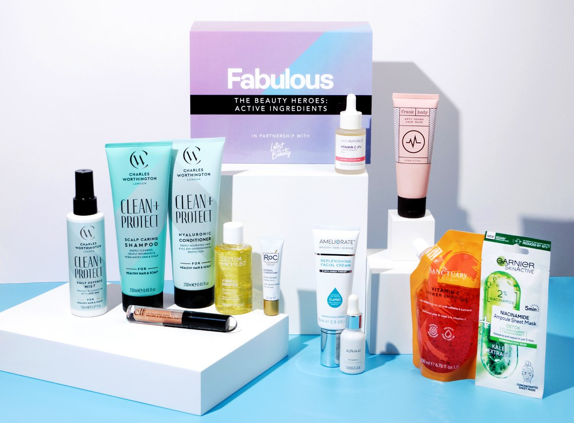 Latest In Beauty x Fabulous The Beauty Heroes: Active Ingredients Beauty Box