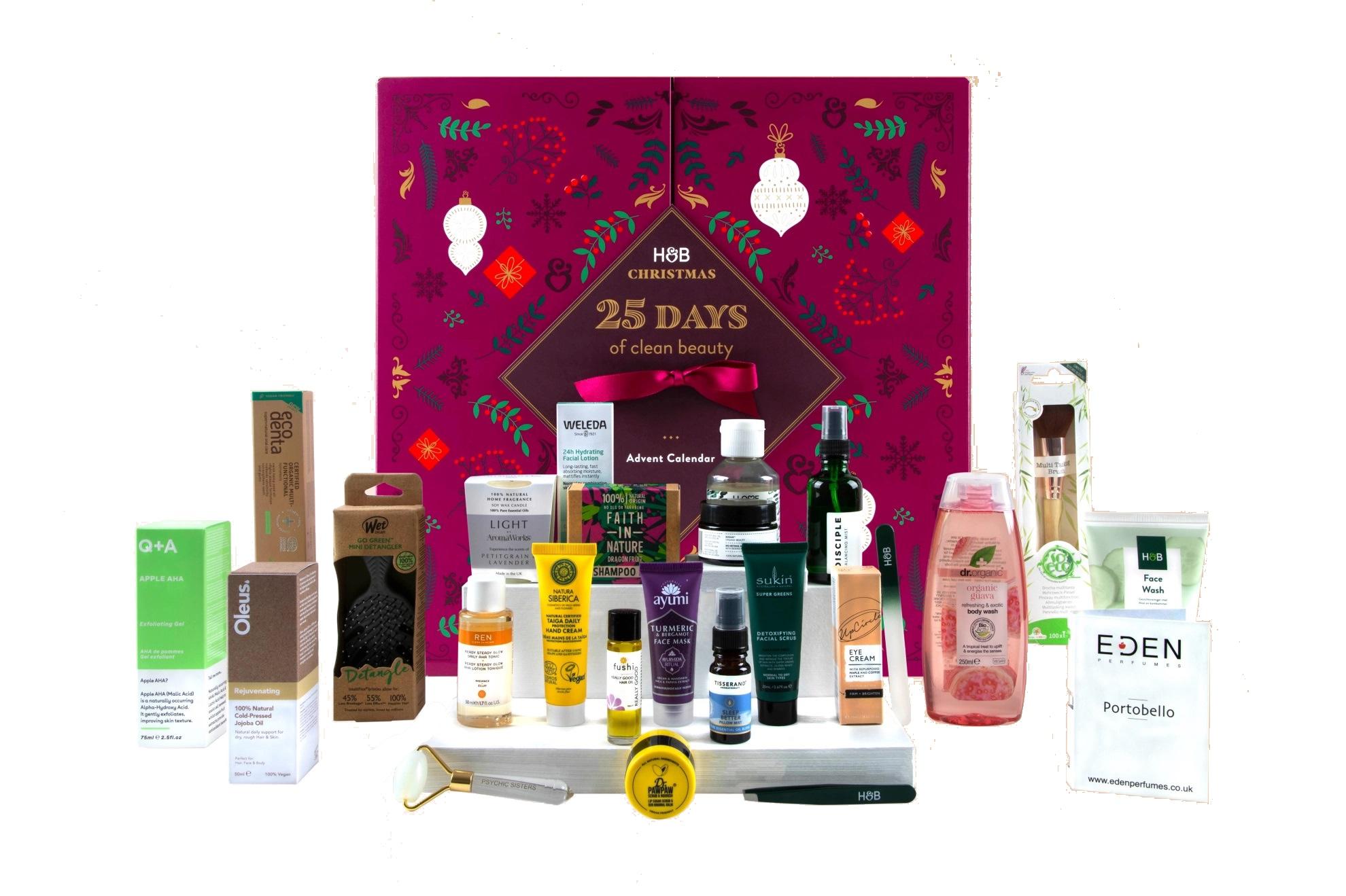 Holland & Barrett 25 Days Of Clean Beauty Advent Calendar 2021 Contents Reveal!