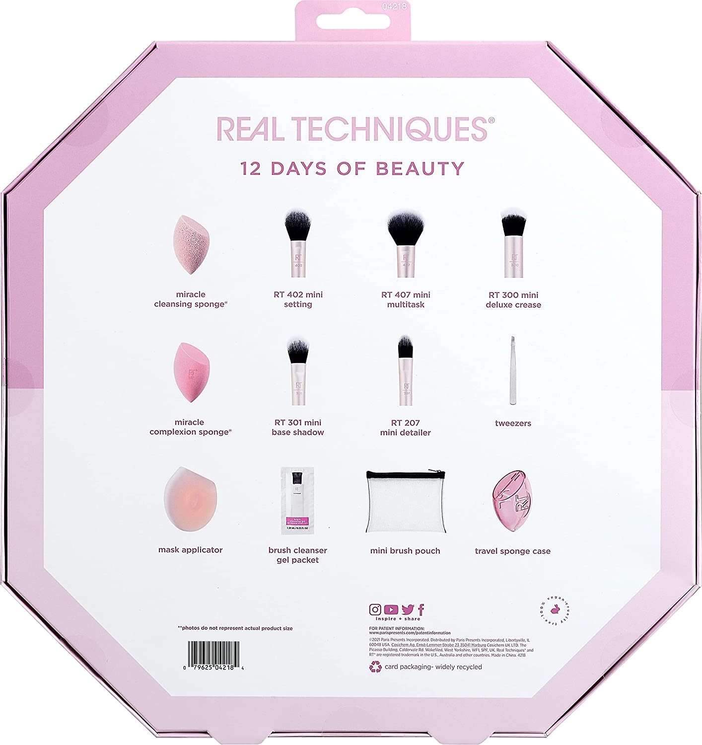 Real Techniques 12 Days Of Beauty Advent Calendar 2021 Contents Reveal!