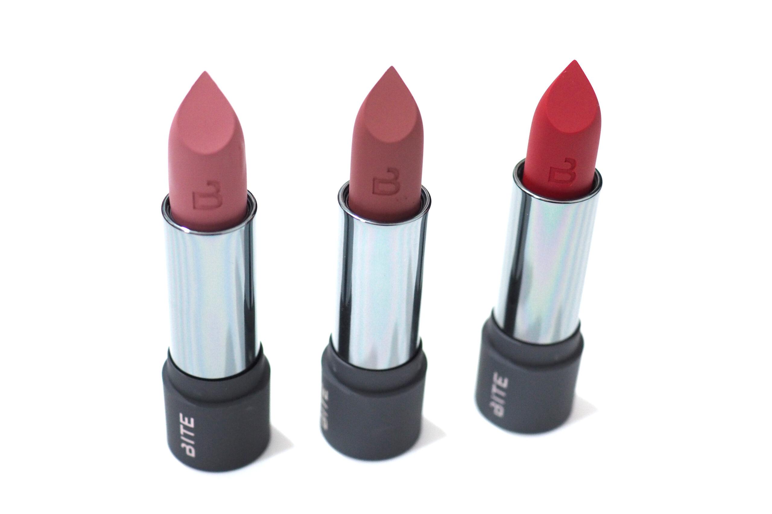 Bite Beauty Power Move Soft Matte Lipsticks Review / Swatches