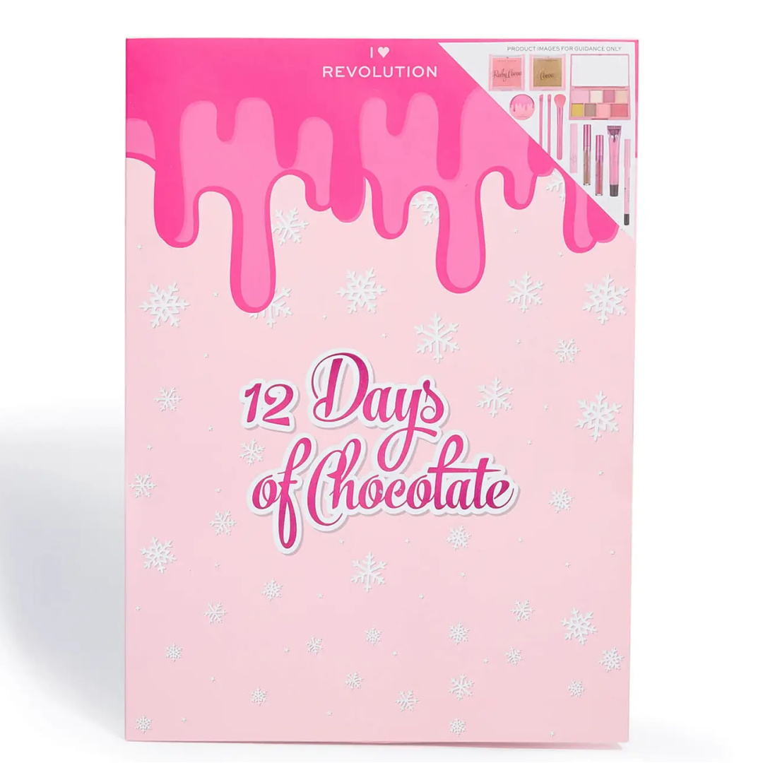 I Heart Revolution 12 Days Of Chocolate Advent Calendar 2021 Contents Reveal!