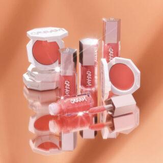 Fenty Beauty Resting Peach Face Cream Blush & Gloss Bomb Duo