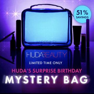 Huda Beauty Surprise Mystery Birthday Mystery Bag